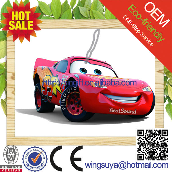 2015 new car scent paper material car air freshener as car shaped promofinal gift