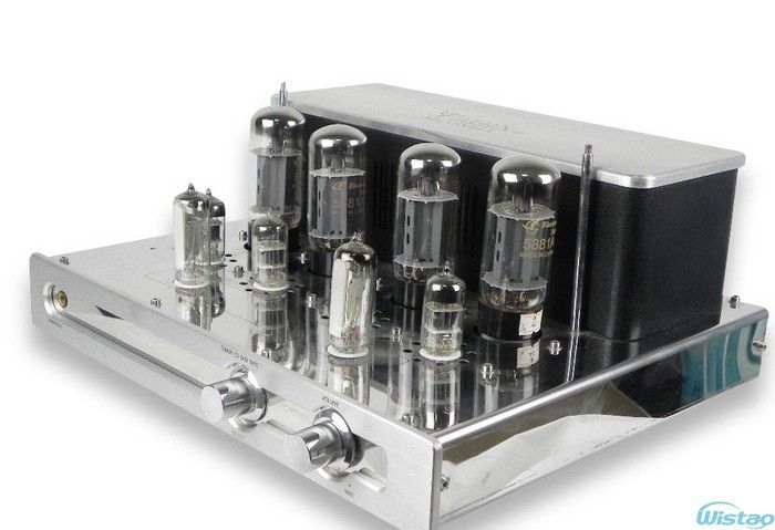 Tube Amplifier 2X23W Preamp of SRPP and Long-tailed&Cathode Output Inverting Circuit Mono-block Integrated with Headphone Output