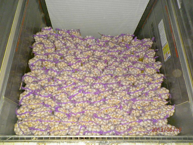 new crop natural garlic bulb/5.5cm garlic mesh bag/pure white garlic from origin