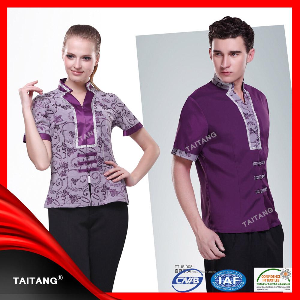 New design classic chinese restaurant uniform for waiter