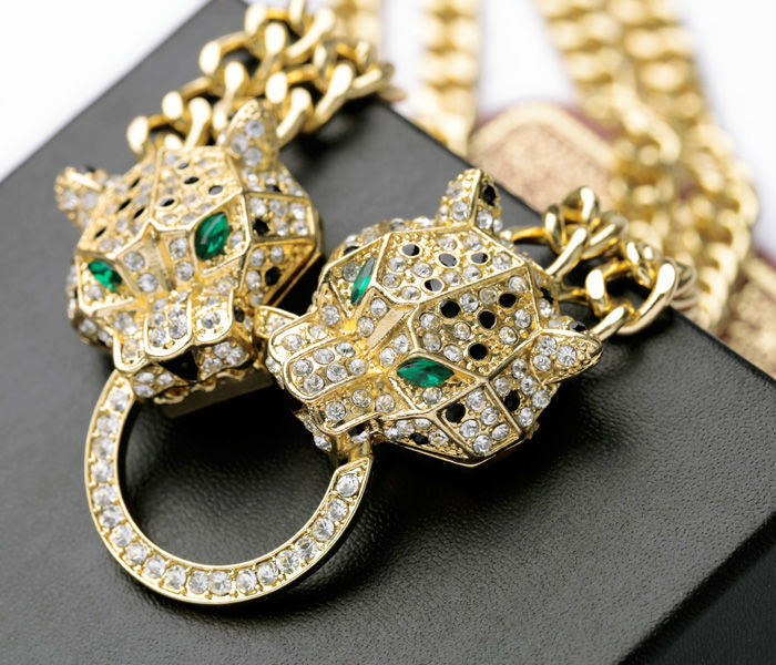 Wholesale Wholesale N00876 Hip Hop Cool Gold Chunky Chain Two