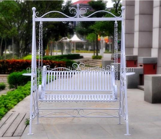 Smeedijzeren luxe comfortabele liefde stoel buiten schommelbank metalen stoelen product id - Leuningen smeedijzeren patio ...