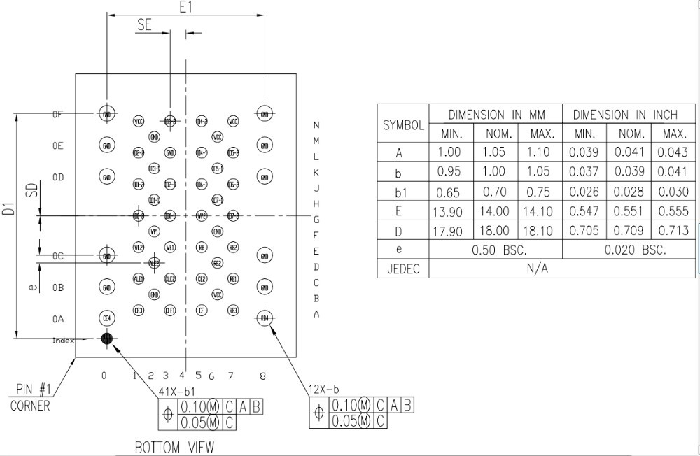 LGA52 Chip Datasheet