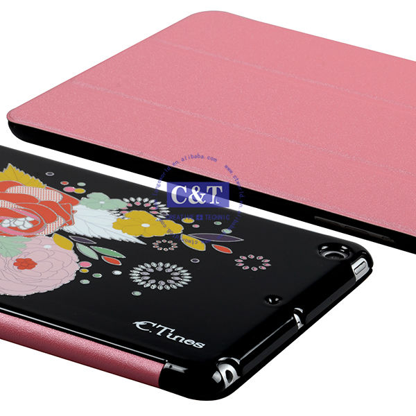 New Cell Phone Accessories stand pu case for ipad mini 2
