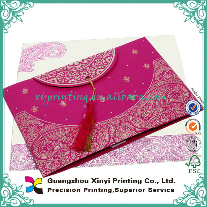 Paper Printing Custom Design Bengali Wedding Invitation Card