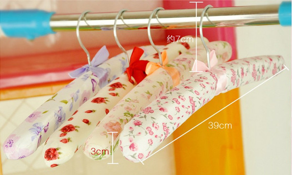 1Set/5pcs Free Shipping Clothes Hanger,Beautiful Clothing Hanger/Rack,Sponge+Ribbon Clothed Rack ... from Wholesale in China