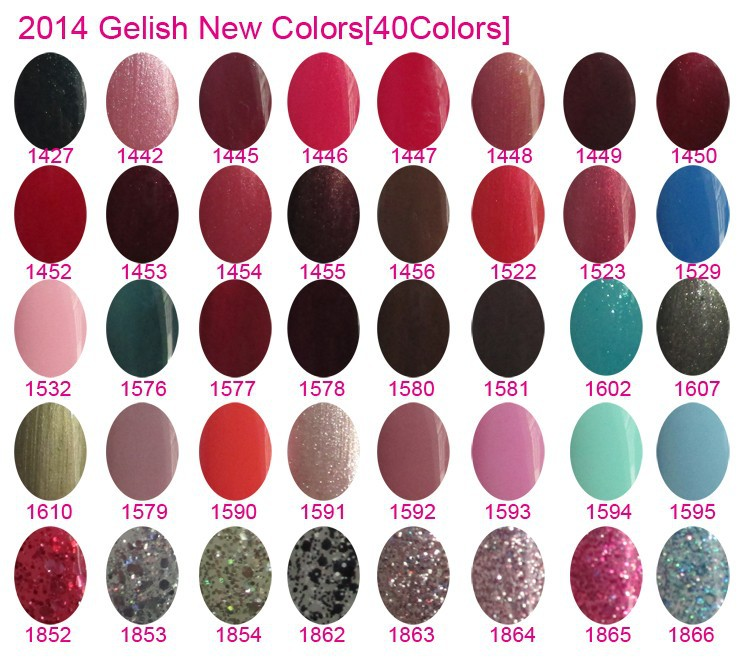 gelish 40colors