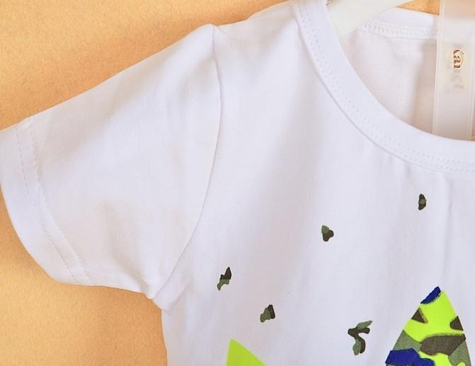 хлопок малышей детей детское мальчиков девочек осень весна 2 шт одежда Камуфляжная Униформа baby рубашка + брюки устанавливает клевер