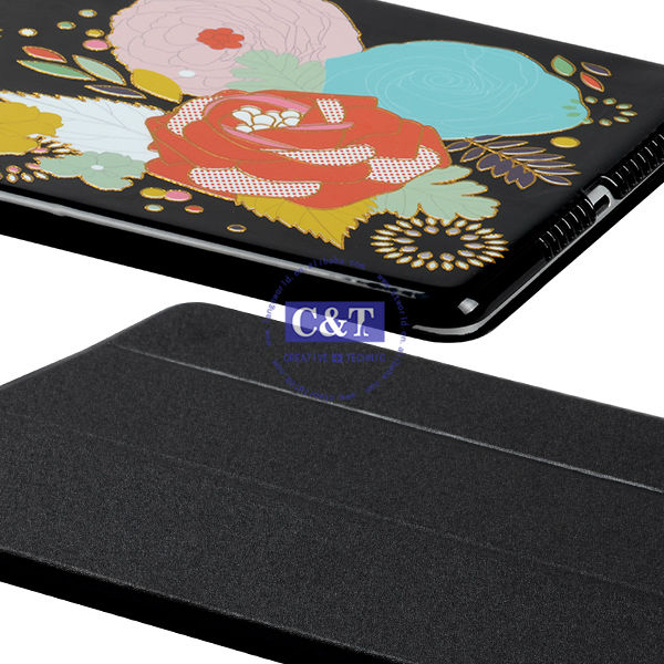 Many colors sublimation for ipad air folding protective pu cover
