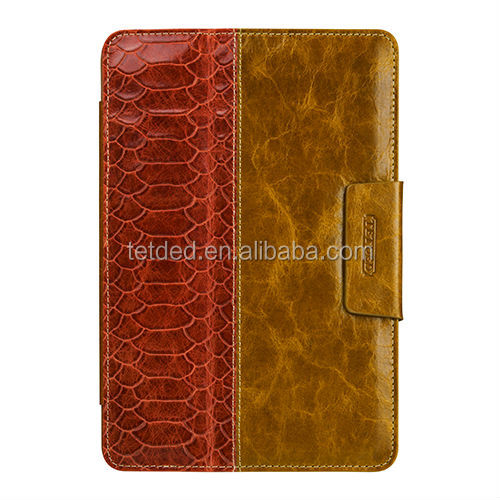 OEM Premium Leather Case for Apple iPad mini with Retina display -- Bellac (Hercules : Toffee Yellow/Orange SK)