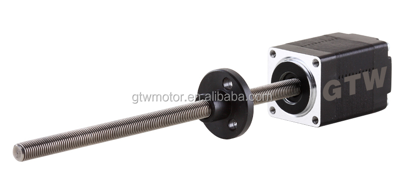 Micro hybrid stepper motor linear actuator view micro for Miniature stepper motors with linear actuation