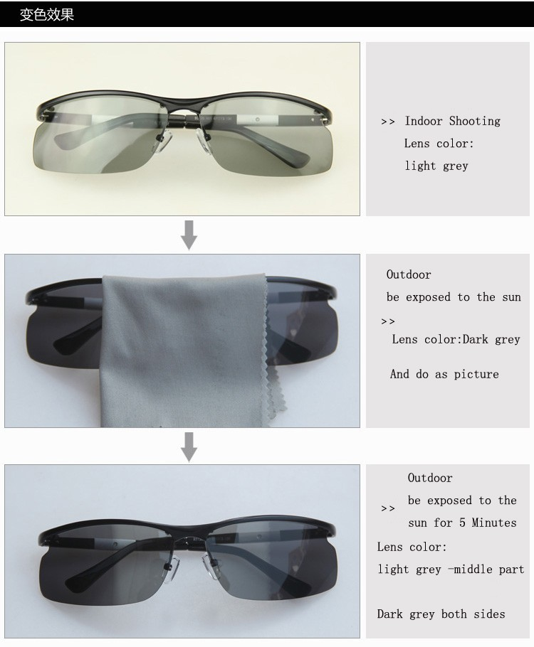 ffcd138354 Pls contact us before you leave Neutral or Negative feedback About New  Brand Designer Men Fashion Sports Driving Glasses Polarized Photochromic ...