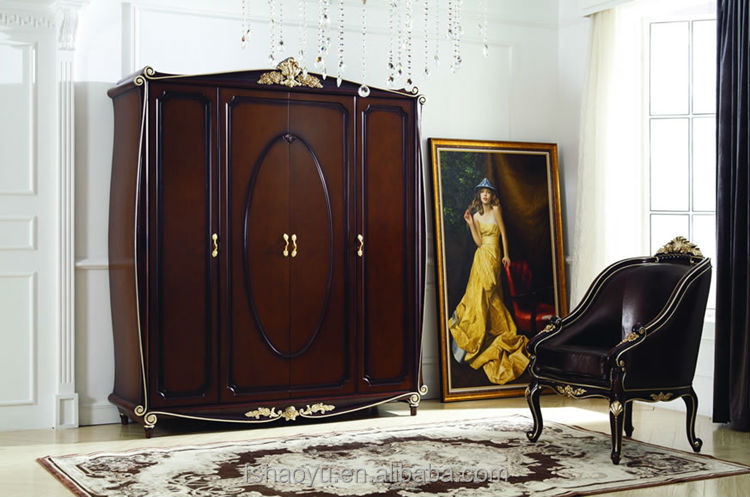 Luxury wooden designs of room almirahs 4 doors bedroom wardrobes view designs of room almirahs - Stylish almirah for room ...