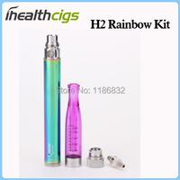 GS-h2 rainbow запустите комплект мини-h2 распылитель 1,5 мл Радуга видение spinner батарея h2 e cigs молния случае 50pcs/lot