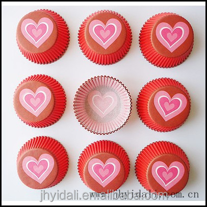 greaseproof paper cupcakes