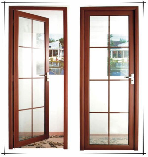Wood Grain Color Soundproof Lowes Sliding Glass Patio