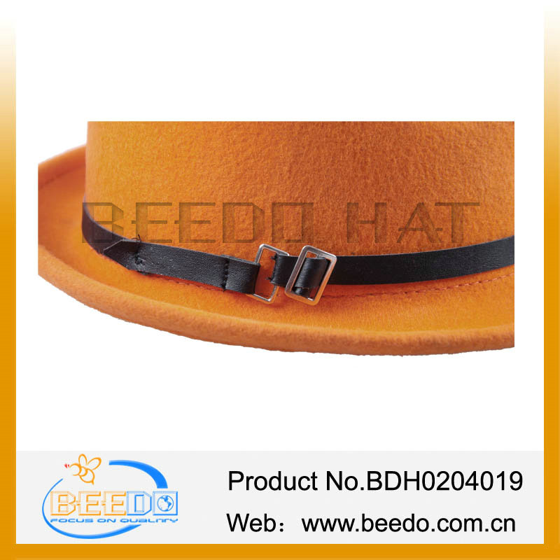 Leather Hillbilly Hat Simple elegant mini sunshade felt hillbilly hat Pacific Rim