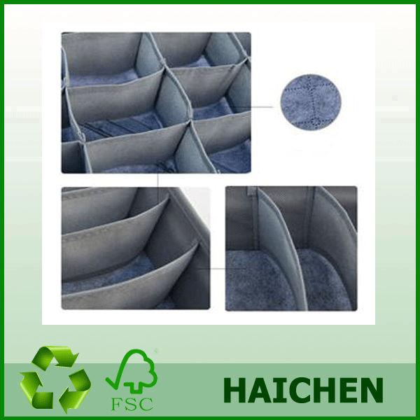 Saco de dobramento cinzento novo da caixa de armazenamento com tampa para peúgas da gravata do roupa interior do sutiã