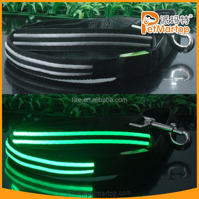 Light-up Led Dog Leash TZ-PET5002 Led Flashing Dog Leash
