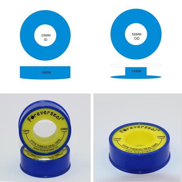 12 mm PTFE cinta de sellado fontanero PTFE cinta de sellado