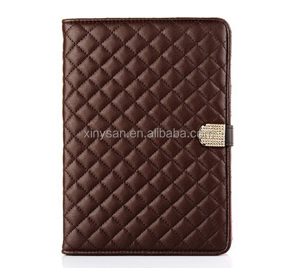 Luxury Diamond PU leather Smart case for ipad mini 2 Stand Protective Case for ipad mini with retina display