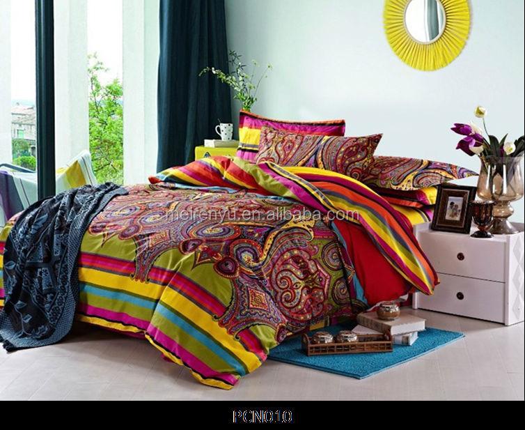 Conception de style indien draps set tissu de coton for Housse de couette inde