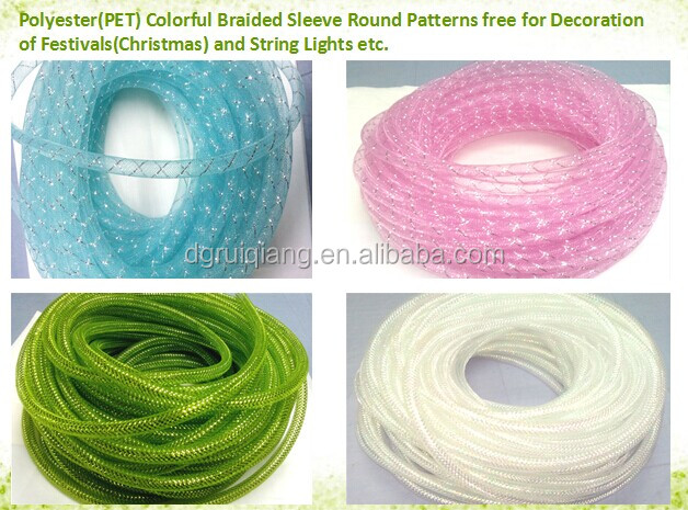 Woven Nylon/PET Multifilament Expandable Braided Cable Mesh Sleeving Tube