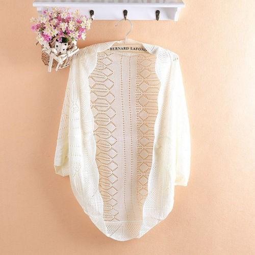 женщин крючком вязать топ платок batwing рукава выдалбливают плечами свитер джемпер