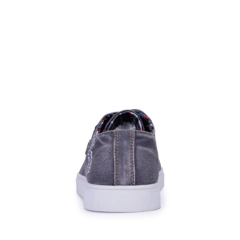 Новый корейский повседневные кроссовки из натуральной кожи зашнуровать Мужская популярные квартиры обувь