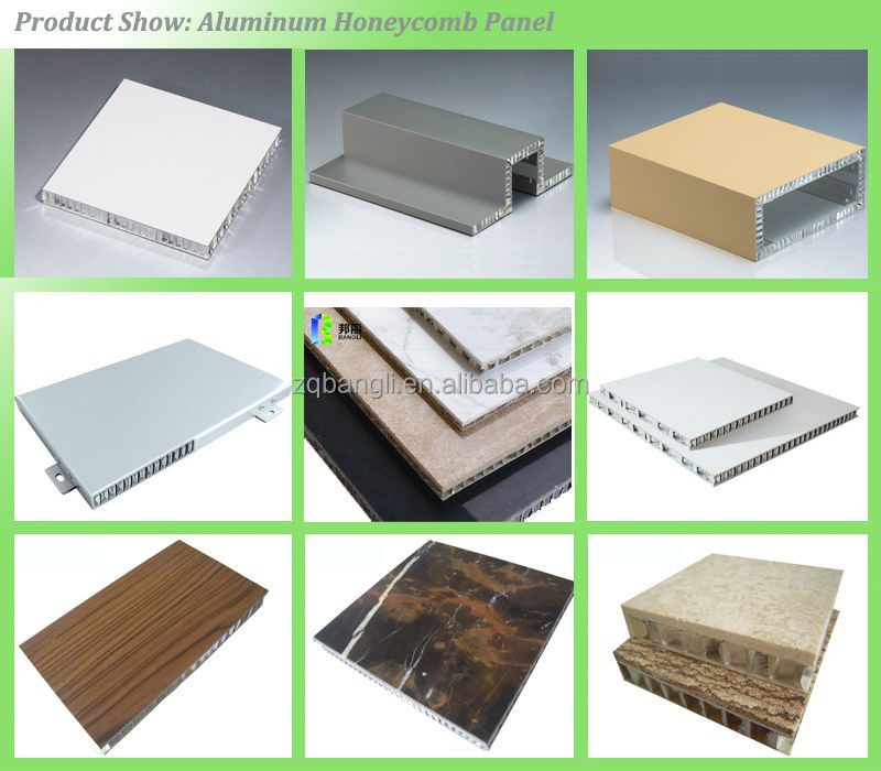 Fireproof morror aluminum honeycomb panel heat insulation for Construction materials cost
