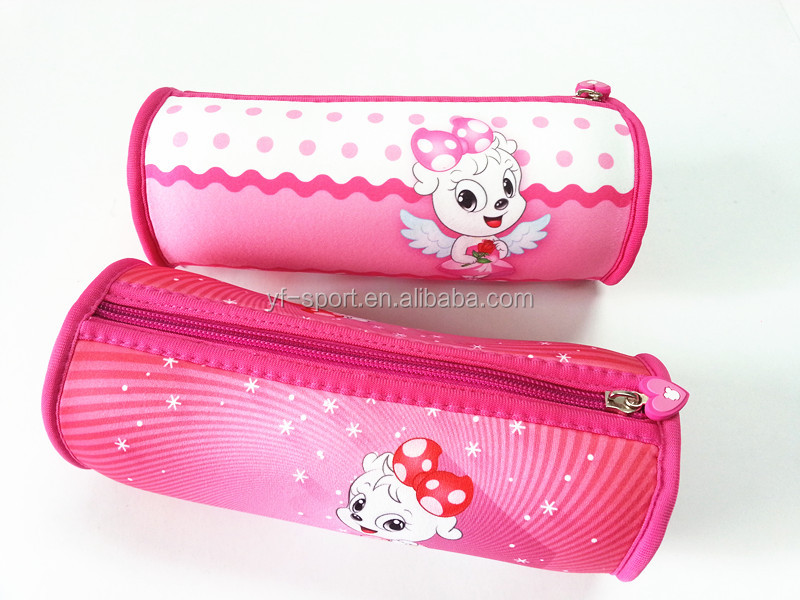School pencil case with compartments for teenagers