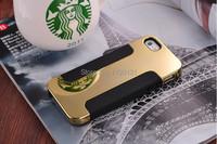 Новый роскошный покрытие телефона чехол для iphone4 4s 5 5s алюминия телефон оболочки мягкой Силиконовой pc + tpu сотовый телефон случае