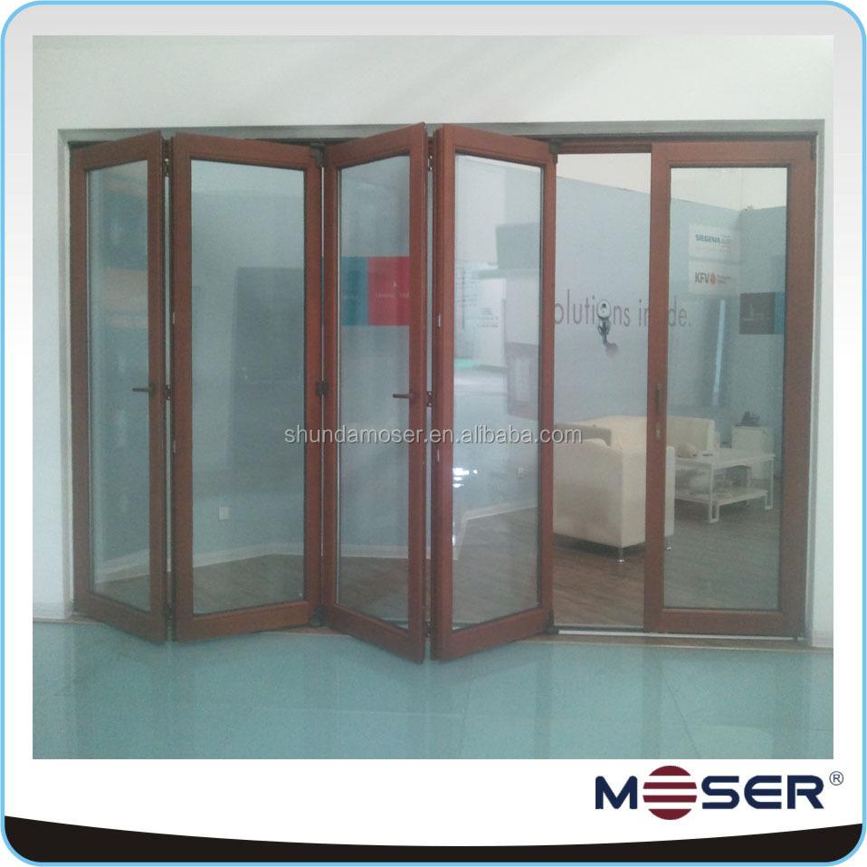 exterior solid wooden accordion bifold bathroom door view bifold door