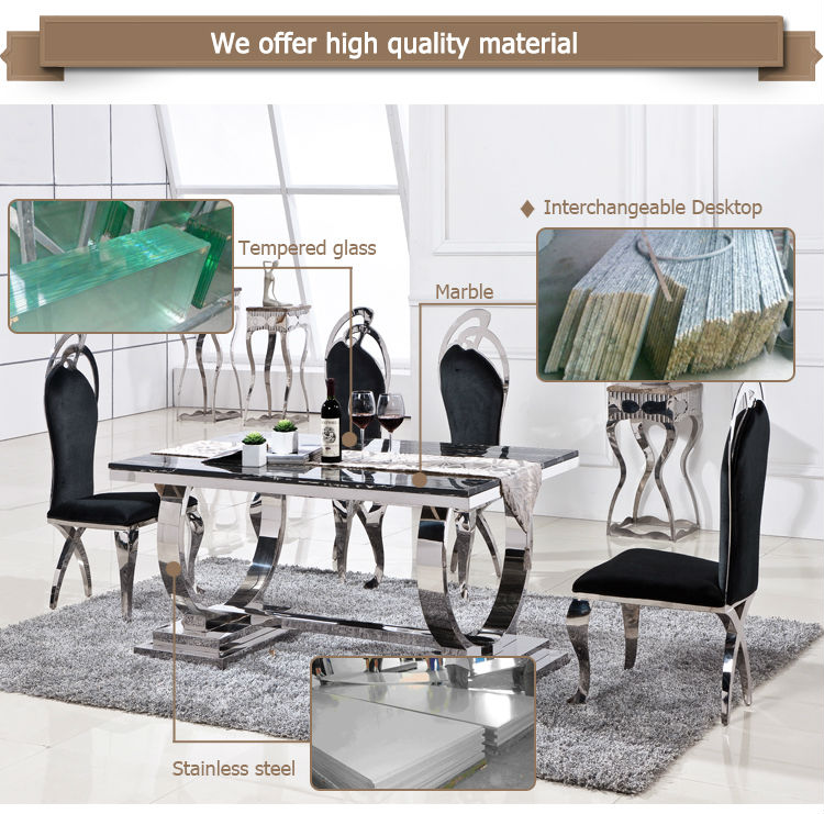 Dubai dining tables and chairs wholesale round glass
