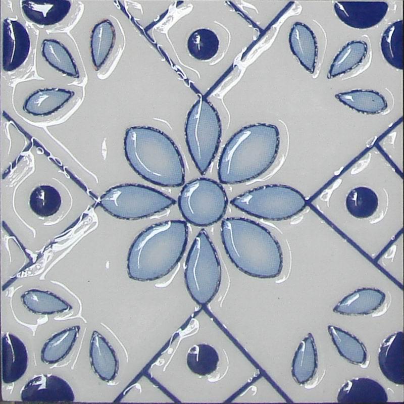 Handmade printed porcelain encaustic tile buy encaustic for Handmade cement tiles