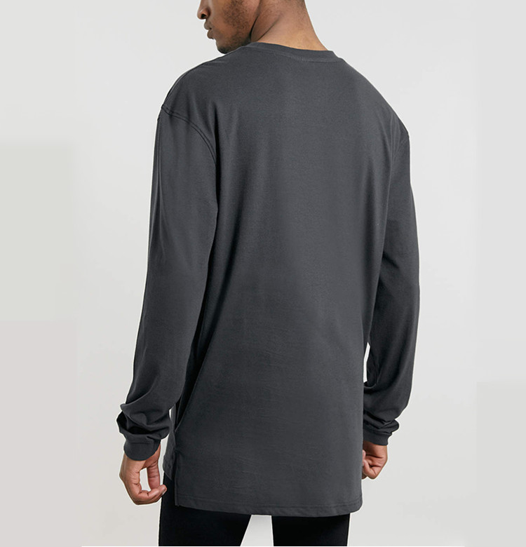 plain mens extra long t shirts view mens extra long t