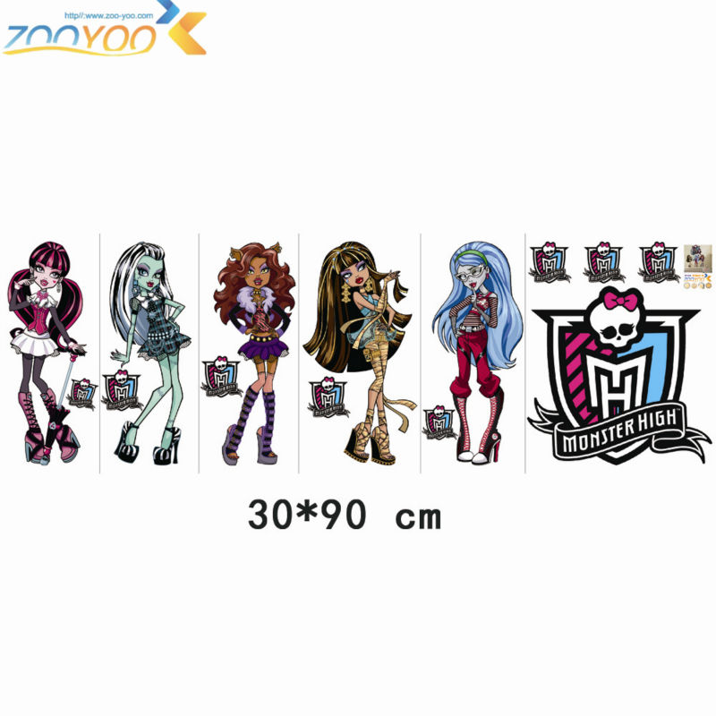 14146 wall decals 4 for Stickers monster high pour chambre