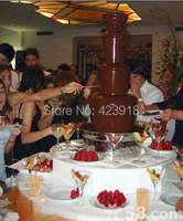 для свадьбы оборудования 4 яруса 60 см сгустить 304stainless стали коммерческие шоколадный фонтан чайник для партии