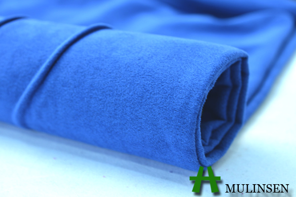 Mulinsen Textile Plain Dyed Warp Knitting Micro Suede Fabric for Sofa