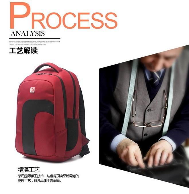 Мода рюкзак, ноутбук рюкзак, путешествия сумка рюкзак сумка черная & красный f838