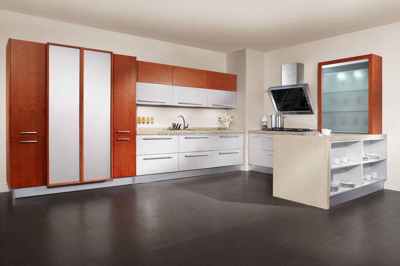 Moderne modulaire keukens reliëfdruk prijs, kichen kasten met hout ...