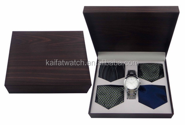 Luxury business gift men s watch set with pen tie and