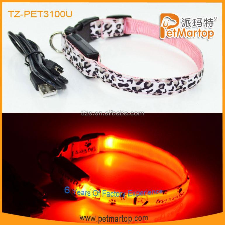 Hot LED USB Rechargeable Dog collar PET3100U Led Det Collar