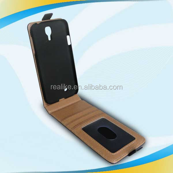 High quality leather Pratical Exclusive Mulit-position pu wallet mobile phone case for sumsung s4