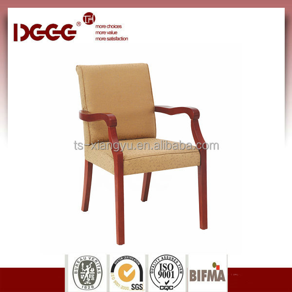 DG-W0055 Antique Solid Curved Wooden Arm Chairs