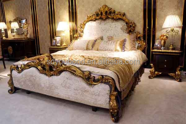 0063 High Quality Luxury Royal Antique Wooden Carving Arabic Style Bedroom Furniture Sets View