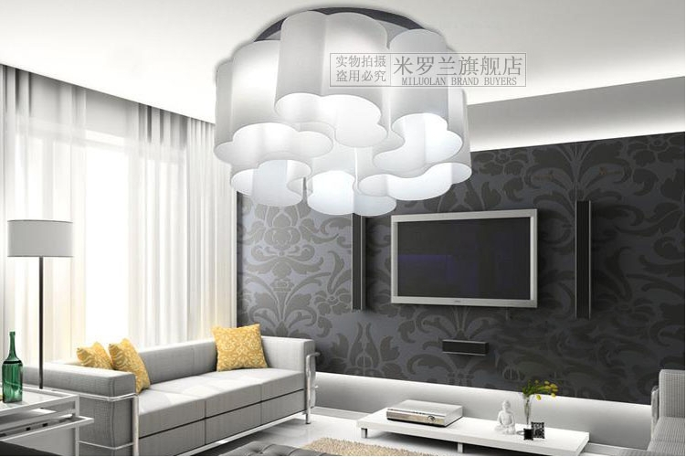 Ding iluminaci n creativa led nubes techo creativa for Salon comedor minimalista