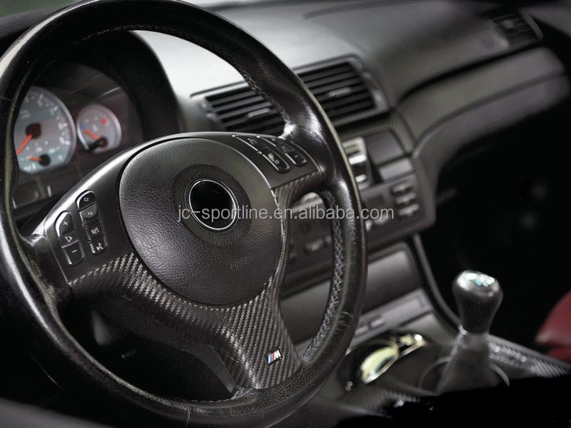 3 Series E46 Steering Wheel Covers Carbon Fiber Interior Trims For BMW E46  M3 ///M
