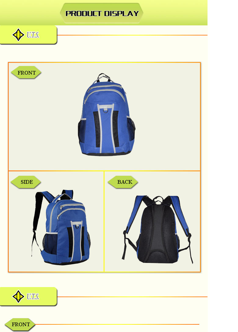 2011-2014 fashion canvas backpack sport bag