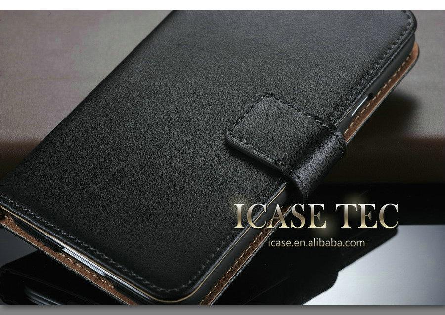 Nouvelle arrivée étui portefeuille pour samsung galaxy s5, Lisse couverture de bourse de cuir pour samsung s5 cas, Étui en cuir pour galaxy i9600 s5